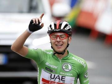 Pogacar, tras ganar una etapa de la Vuelta