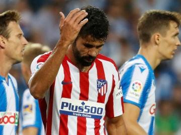 Diego Costa, enfadado