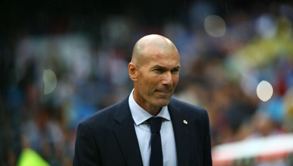 Zidane, en un partido