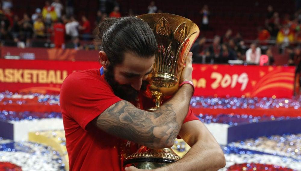Ricky Rubio, con el Mundial de baloncesto