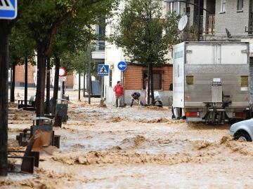 El municipio madrileño de Arganda del Rey, inundado tras las fuertes lluvias