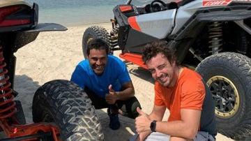 Fernando Alonso, con Al-Attiyah