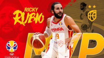 Ricky Rubio, MVP del Mundial de baloncesto 2019