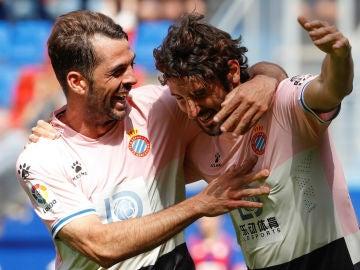 Granero celebra un gol del Espanyol