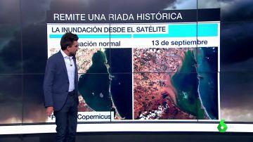 Los estragos de la gota fría, desde el satélite: así ha quedado el Mar Menor tras las inundaciones
