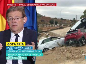 """Ximo Puig: """"Las catástrofes son más feroces contra las personas que tienen menos. A los que lo han perdido todo, no están solos"""""""