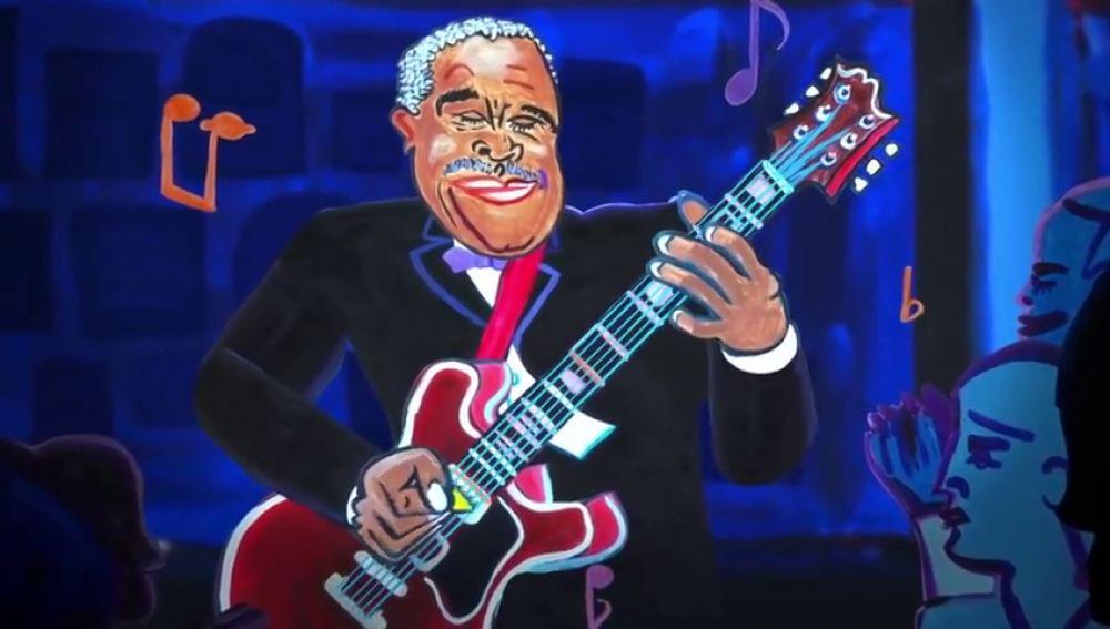 Google homenajea a B.B King con un Doodle en el 94 aniversario de su nacimiento