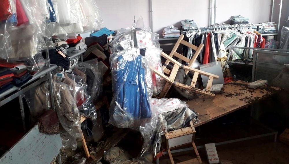 Comercio afectado por el temporal en Arganda del Rey