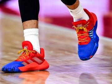 Las zapatillas de Ricky Rubio durante la final del Mundial