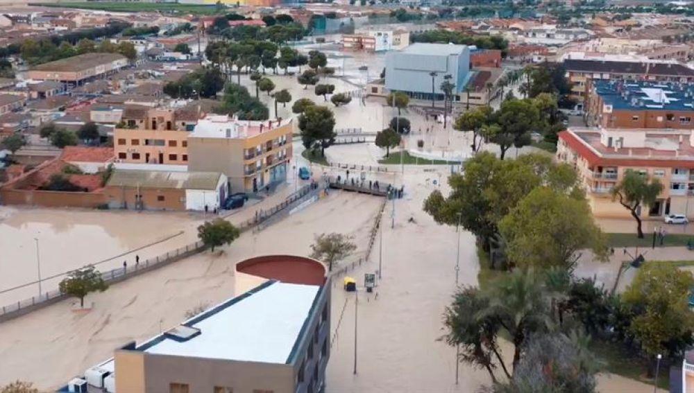 Inundaciones en Torre Pacheco causadas por la gota fría