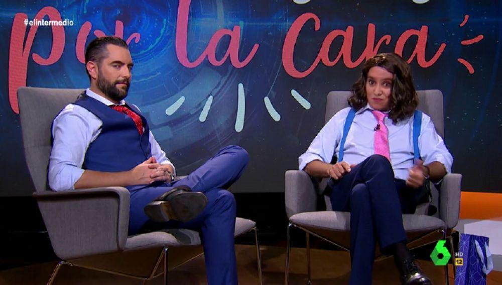 """Dani Mateo """"entrevista por la cara"""" a Ayuso: """"Con Aguado tengo un pacto de Gobierno y de 'Best Friends Forever'"""""""