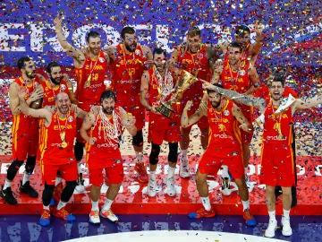 La selección española, campeona del Mundial de baloncesto de China 2019