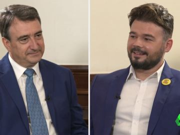 """Gabriel Rufián y Aitor Esteban analizan las posibilidades del 11N: """"Si el PSOE mejora resultados será más fuerte y se acercará a Ciudadanos"""""""