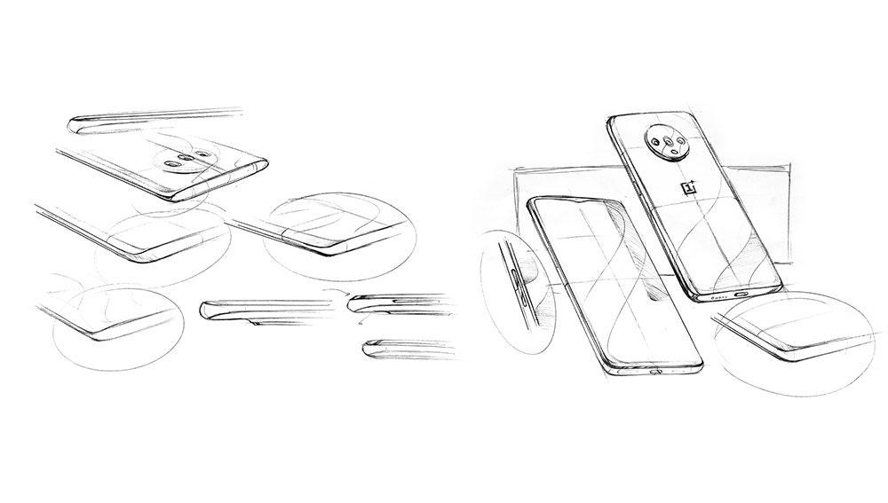 Bocetos con el diseño del OnePlus 7T