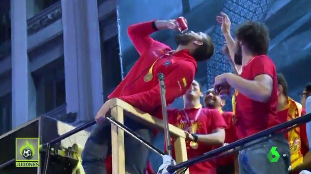 Marc Gasol repite 'hidalgo' en la celebración de la selección por el Mundial
