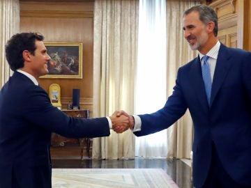Albert Rivera y el rey Felipe VI