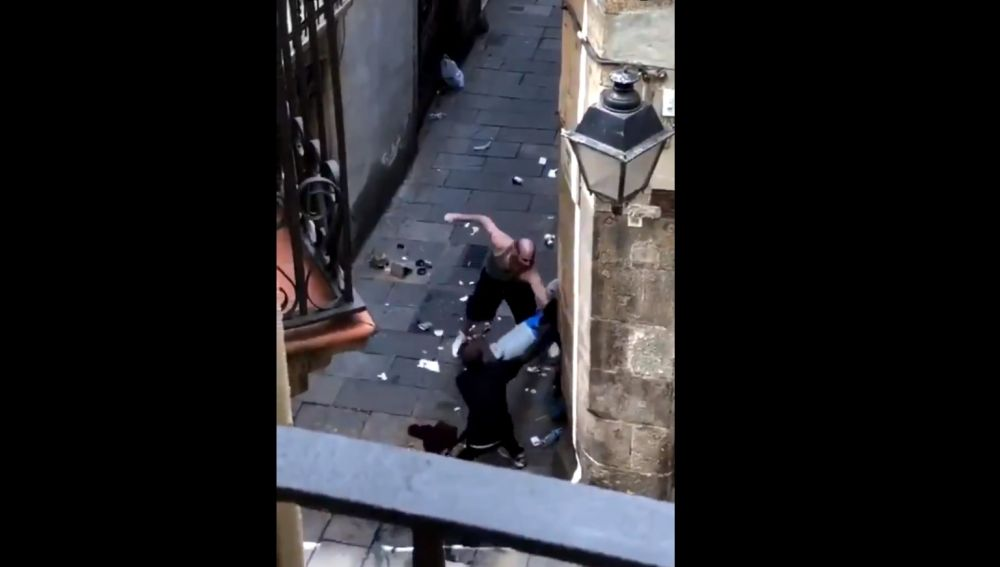 Agresión a un repartidor en Barcelona