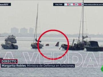 Mueren un instructor y una alumna del Ejército del Aire tras caer con su avioneta al Mar Menor