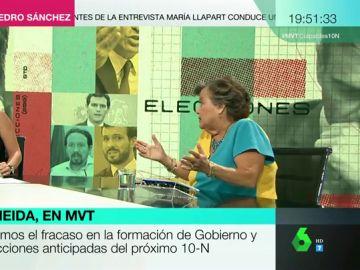 """Crsitina Almeida, sobre la repetición electoral: """"Esto en una empresa les costaba el puesto, que les cueste el puesto a los dirigentes"""""""