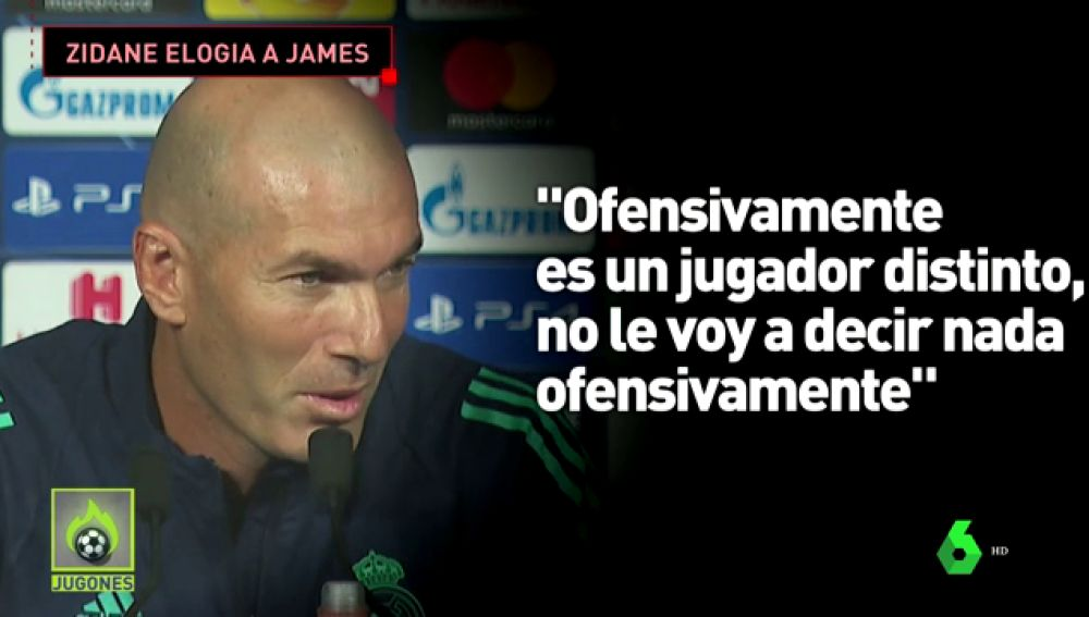 James se gana a Zidane