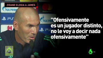 James se gana a Zidane
