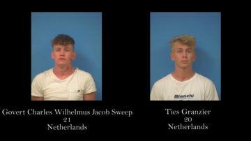 Los dos jóvenes detenidos por entrar en la en la Zona de Seguridad Nacional de Nevada