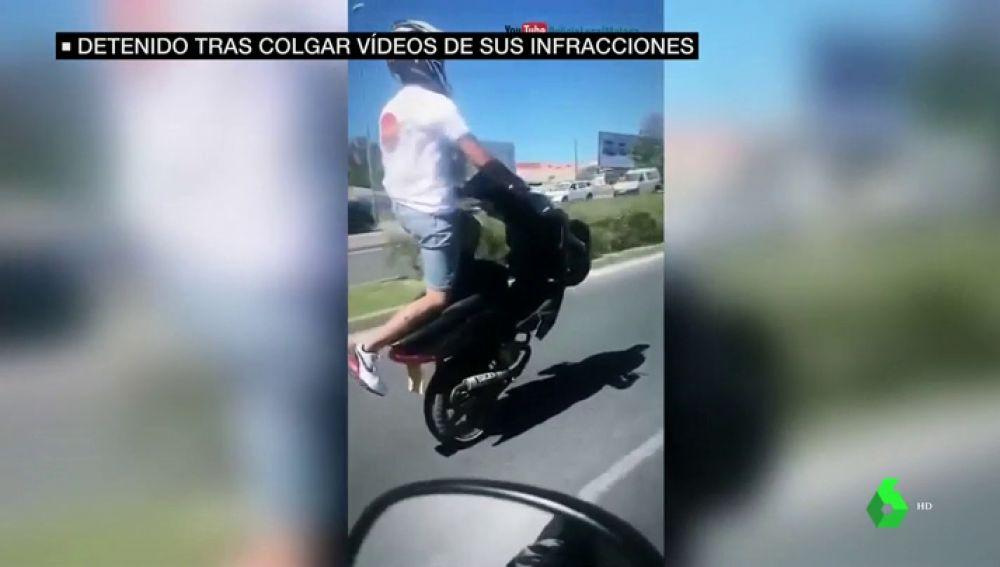 Detenido un joven de 22 años por protagonizar y grabar auténticas burradas al volante