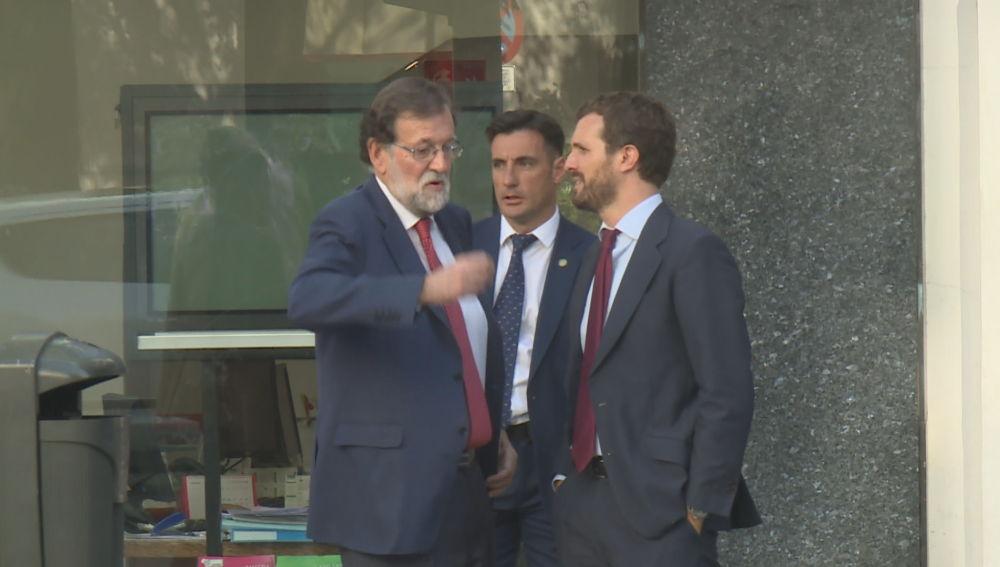 Mariano Rajoy se reúne con Pablo Casado