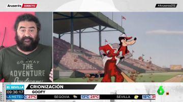 ¿Goofy es un perro o una vaca?: el gran debate en redes sociales que 'soluciona' El Sevilla