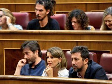 Yolanda Díaz, Rafa Mayoral y Antón Gómez-Reino