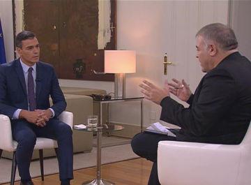 Antonio García Ferreras entrevista a Pedro Sánchez en Moncloa