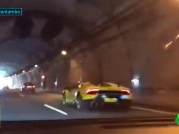Graban una carrera ilegal de Lamborghinis en Asturias