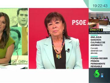 """Cristina Narbona: """"El acuerdo no ha sido posible porque Pablo Iglesias no ha querido que Podemos esté en un Gobierno en el que él no esté"""""""