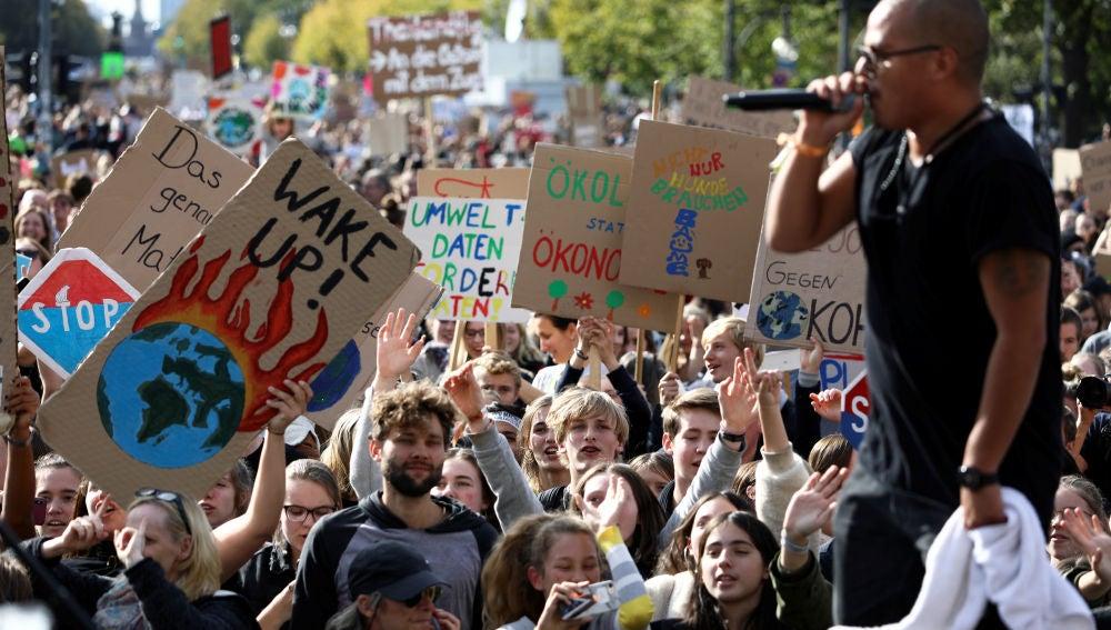 Protesta contra el cambio climático en Berlín