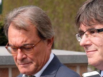 Mas y Puigdemont en una imagen de archivo