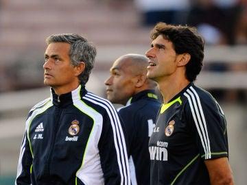 Mourinho y Karanka, durante su etapa en el Real Madrid