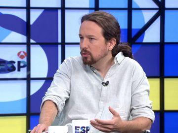 Pablo Iglesias en una entrevista en Atresmedia