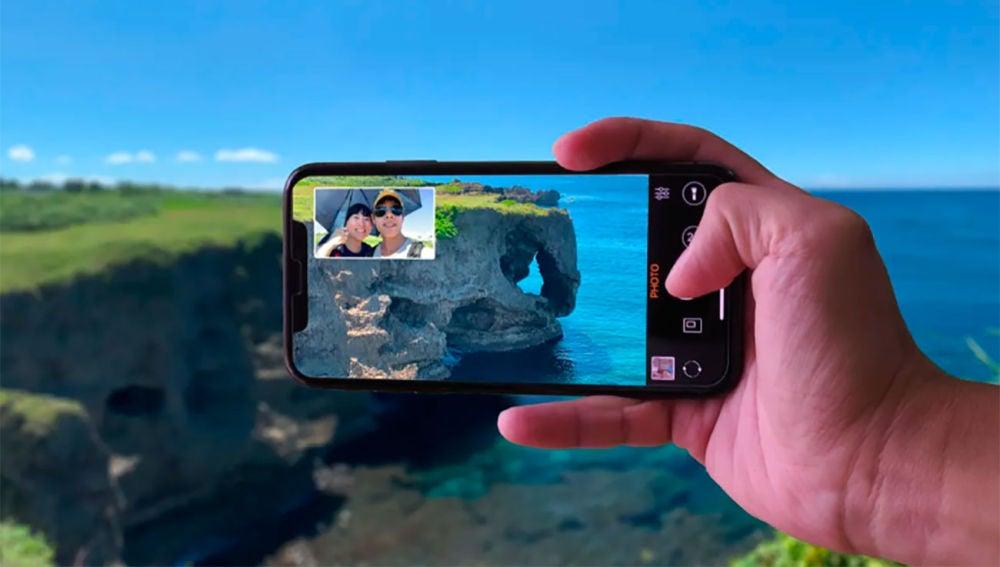 Grabando vídeo desde las dos cámaras