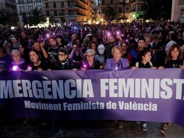 Imagen de la manifestación feminista de Valencia
