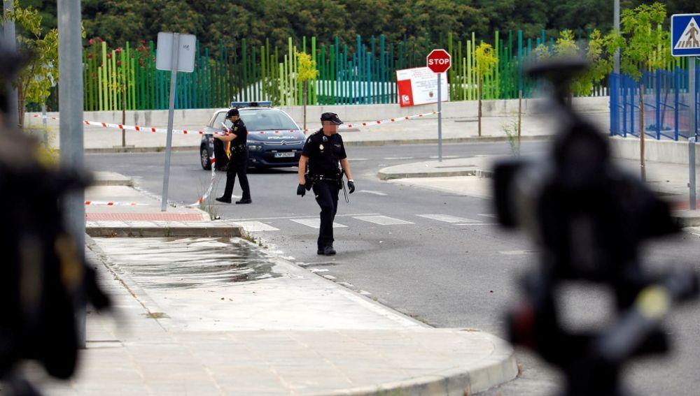 Imagen del lugar en el se produjo el apuñalamiento a un joven en Cabra