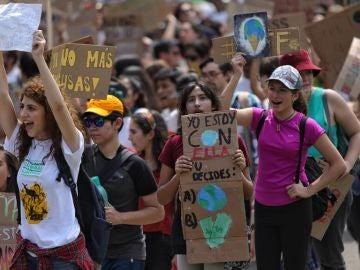 Imagen de la manifestación contra el cambio climático