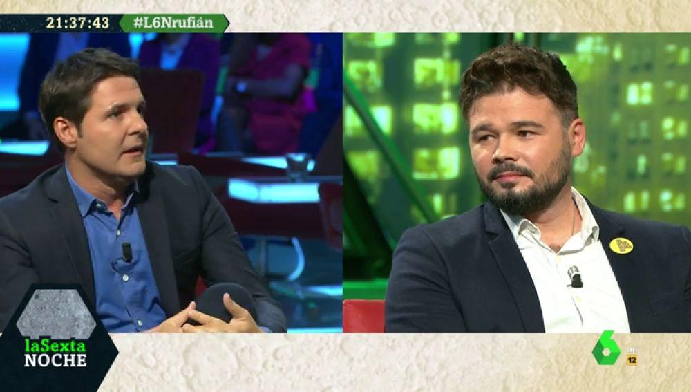 """Rufián: """"El sentimiento cainita de la izquierda ha hecho a Errejón una especie de conde de Montecristo"""""""