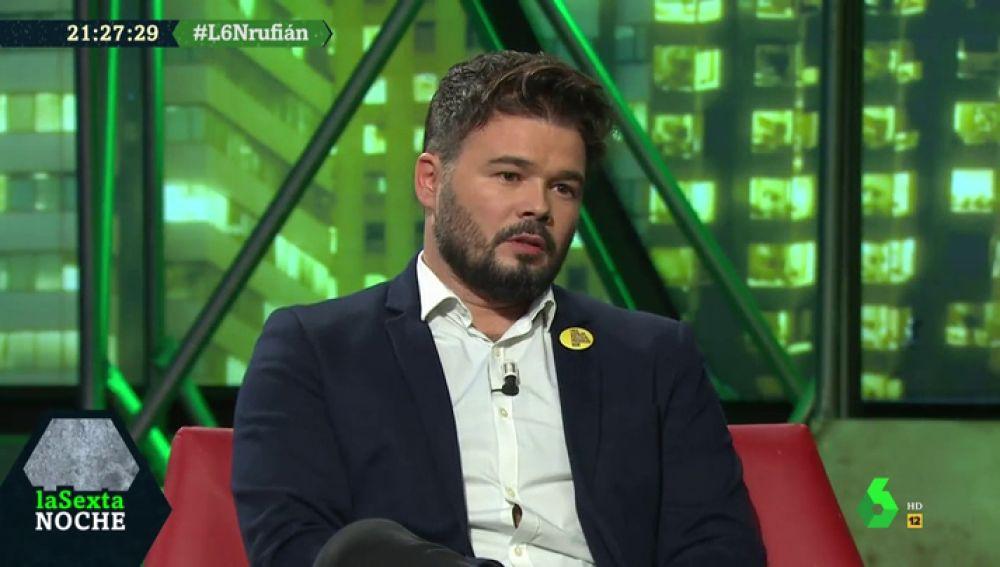 """Gabriel Rufián: """"La izquierda va a pringar en estas elecciones"""""""