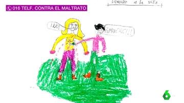 Dibujos de niños víctimas de la violencia machista