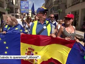 Británicos residentes en Málga se manifiestan contra el Brexit