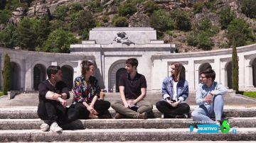 """Cuatro jóvenes visitan por primera vez el Valle de los Caídos: """"Esperaba que hubiese alguna cosa más"""""""