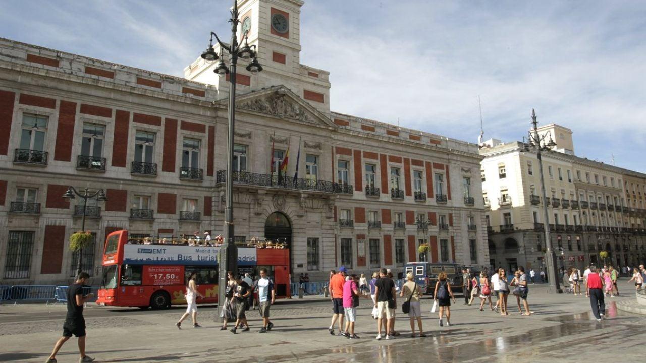Imagen de archivo de la Puerta del Sol de Madrid