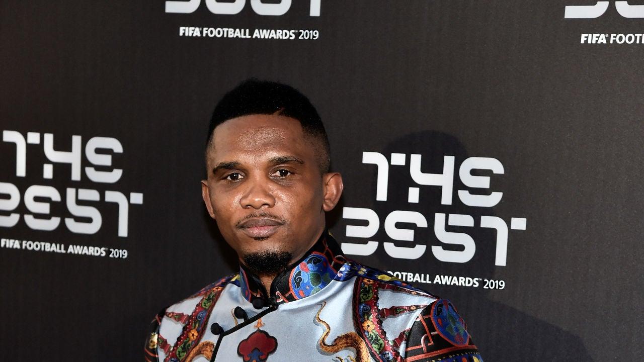 Samuel Eto'o, posando en la gala 'The Best'