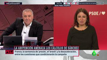La portavoz del PSOE en el Congreso, Adriana Lastra