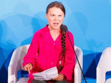 Greta Thunberg en la cumbre del clima de la ONU